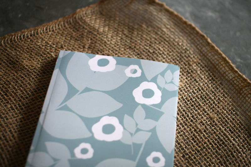 Winter Floral - Blue Print Notebook - product images  of