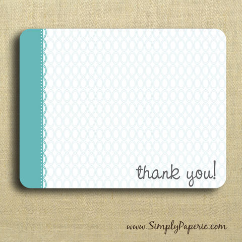 Thank,You!,Greeting,Notecards,Paper Goods, Cards, Blank, bright, notecard, note, card, geometric, circles, polka dot, flat, thank you, teal, turquoise, aqua, fun, The Artisan Group, ink, envelope