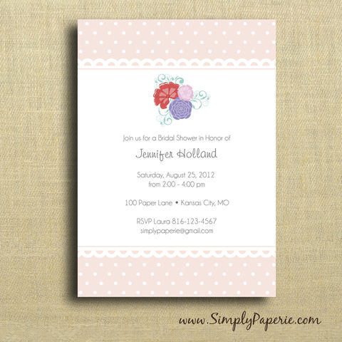 Garden,Party,Shower,Invitation, Wedding, Shower, Bridal, garden party, baby, pink, peach, flower, bouquet, celebration, party, bride
