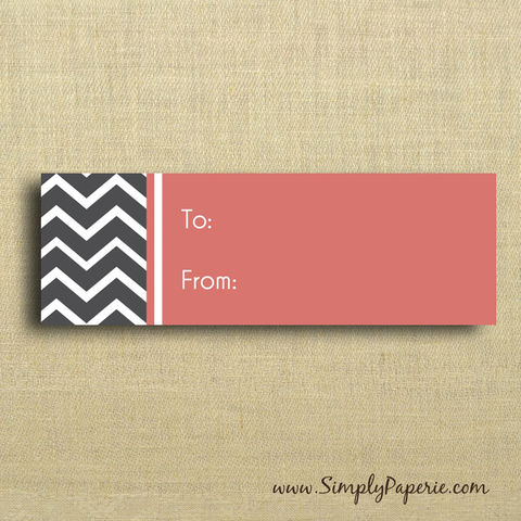 Chevron,Gift,Tags,Gift Tag, label, Sticker, to, from, pink, grey, black, slate, chevron, stripe, modern