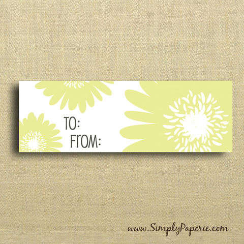 Citron,Floral,Gift,Tags,Gift Tag, label, Sticker, to, from, yellow, grey, citron, flower, floral, femenine, modern, bright, garden party