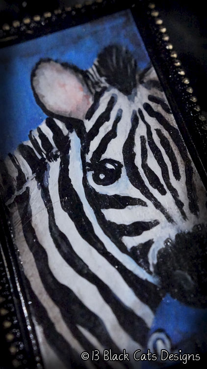 Zebra Hand Painted Pendant Necklace - product images  of