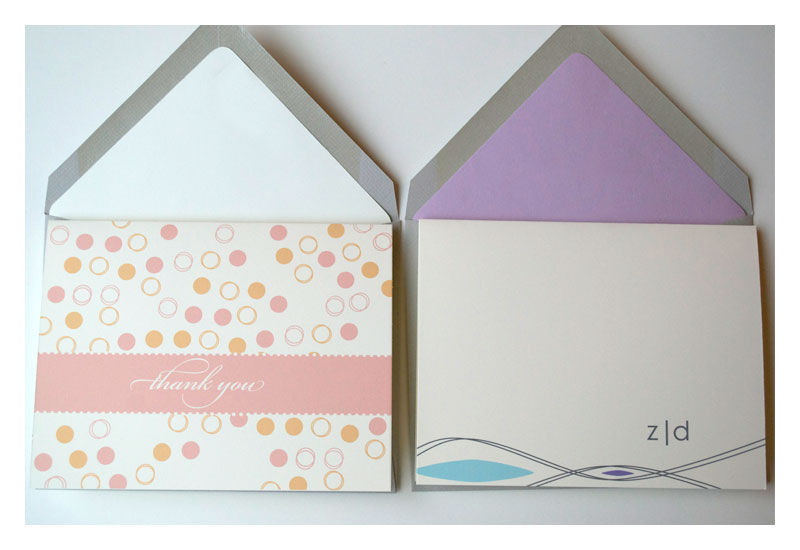 Stationery Gift Pack : Designer Note Cards and Personalized Flat Notes - product images  of