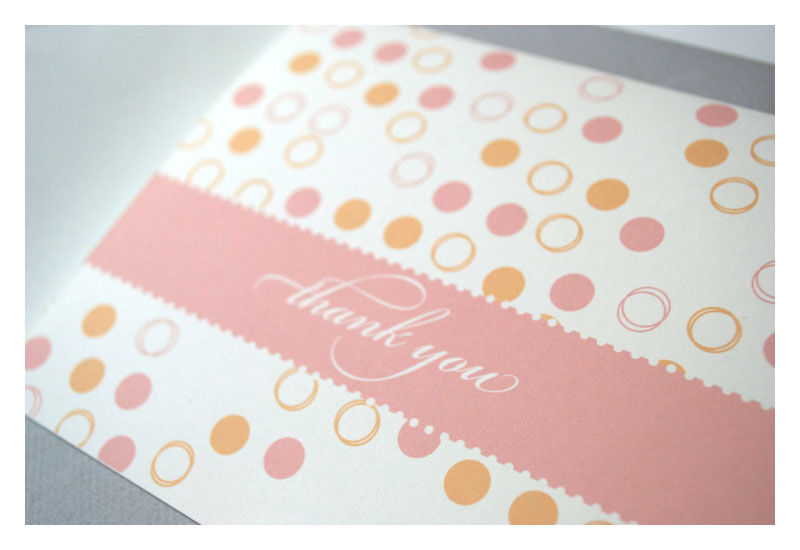 Designer Pattern Thank You Note Set - product images  of