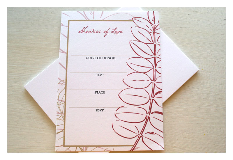 Fill in the Blank Bridal Shower Invitation - product images  of