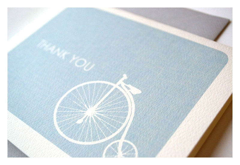Vintage Bike Thank You Note Stationery Set - product images  of