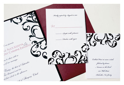 Traditional,Damask,Wedding,Invitation,Weddings,sparetire_design,wedding_invitiations,invites,stationery,special_event,damask_invitations,etsy,black,white,red,pocketfold,Quality_paper,linen_paper,crest_paper,felt_paper