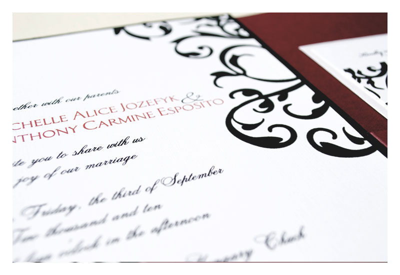 Traditional Damask Wedding Invitation - product images  of