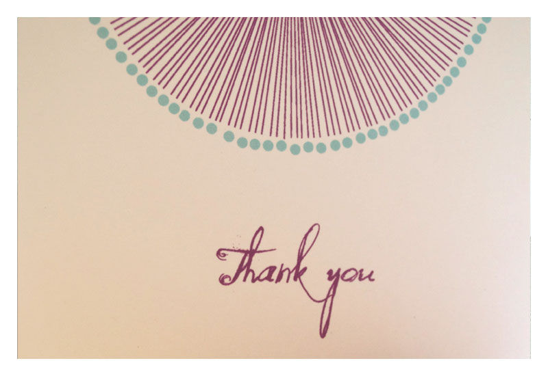 Soleil Burst Colorful Thank you Note Set - product images  of