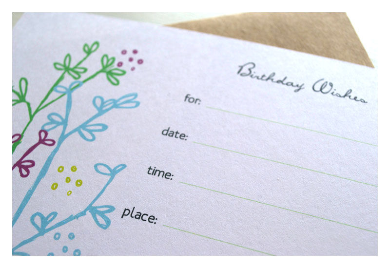 Fill in the Blank Party Invitations - product images  of