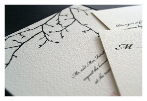 Silhouette,Branch,Winter,Wedding,Invitation,Weddings,sparetire_design,wedding,wedding_invitations,invites,special_event,stationery,etsy,winter_wedding,silhoutte_branch,black_and_white,pochette,The_Artisan_Group,quality_materials,crest_paper,linen_paper,felt_paper