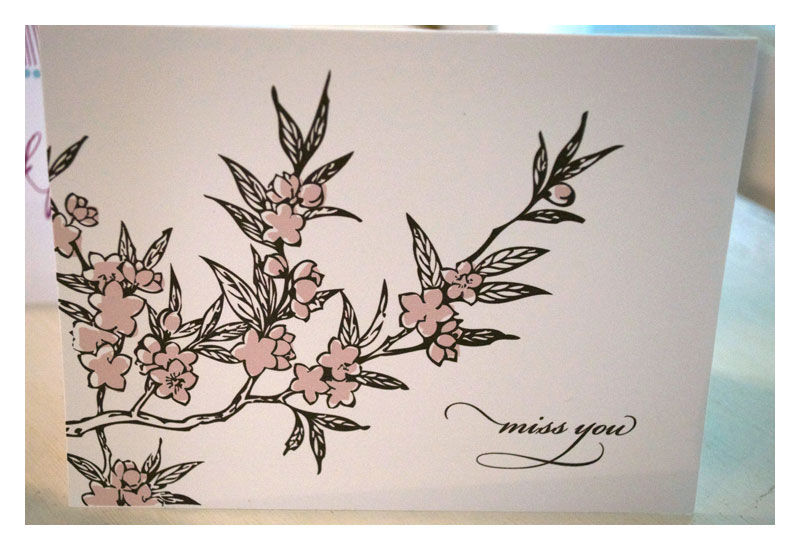 Cherry Blossom Design Note Card Stationery Set - product images  of