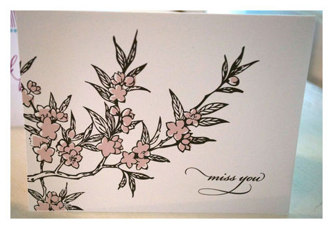 Cherry,Blossom,Design,Note,Card,Stationery,Set,Paper_Goods,miss_you_notes,note_cards,cherry_blossom,tree-silhoutte,pink flowers,pastel_colors,pink,black,the_artisan_group,stationery_set,sparetire_design,baby_shower,Quality_paper,linen_paper,crest_paper,felt_paper