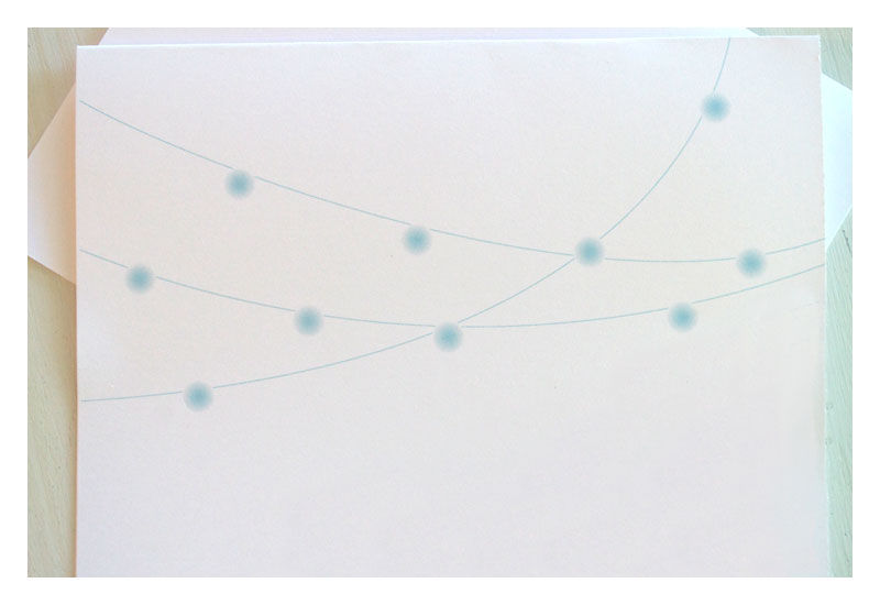 String Party Lights Note Card Stationery Set - product images  of