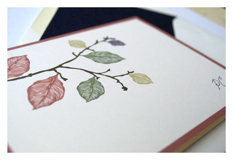 Fall,Leaves,Design,Personalized,Stationery,Note,Cards,Paper_Goods,Set,personal_notes,stationery_set,note_cards,elegant,simple, leaves, tree branch, silhoutte, personalized,chocolate, brown, pumpkin, orange,green, purple, earth tones, fall, jewel tones,the_artisan_group,sparetire_design,branch and