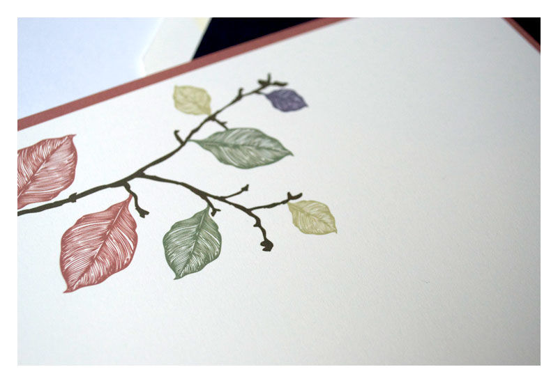 Fall Leaves Design Personalized Stationery Flat Note Card - product images  of