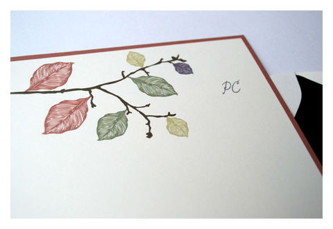 Fall,Leaves,Design,Personalized,Stationery,Half,Sheet,Note,Card,Paper_Goods,Set,personal_notes,stationery_set,half-sheet_note_cards,elegant,simple, leaves, tree branch, silhoutte, personalized,chocolate, brown, pumpkin, orange,green, purple, earth tones, fall, jewel tones,the_artisan_group,sparetire_design