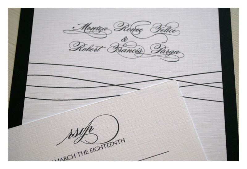Simple and Elegant Line Wedding Invitations - product images  of