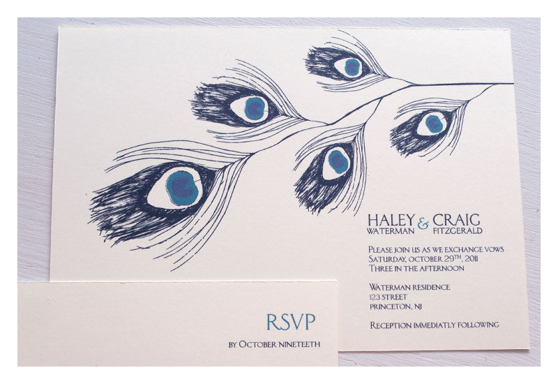Peacock Wedding Invitations - product images  of