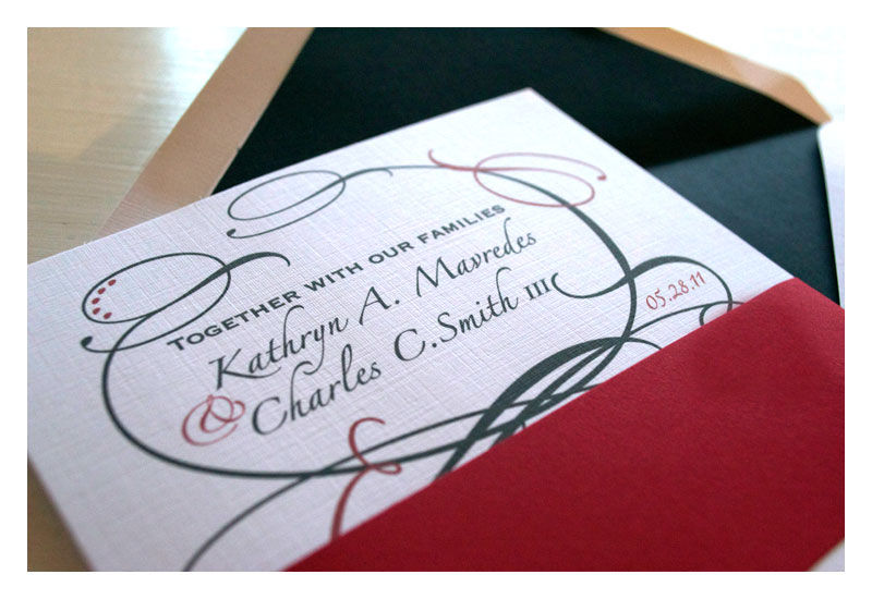 Flourish Style Wedding Invitations - product images  of