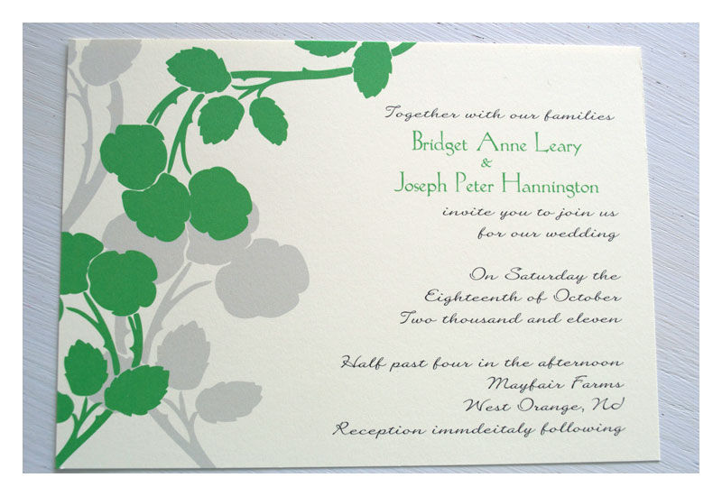 Apple Blossom Flowers Designer Wedding Invitations - product images  of