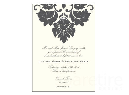 Damask Design with Traditional Flare Stationery Design - product images
