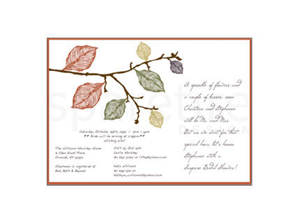 Fall Leaves Stationery Design - product images
