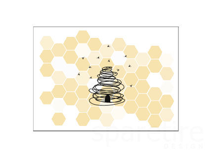 Honey Bee Stationery Design - product images