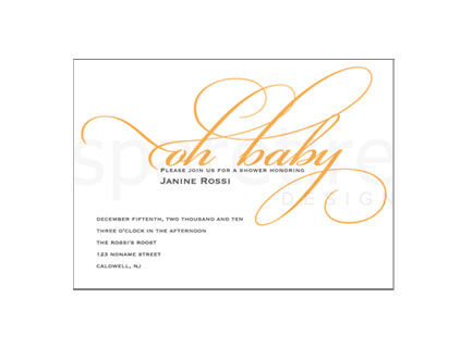 Oh,Baby,Stationery,Design,graphic, typography, oh baby, fun, note cards, flat notes, half sheet stationery, invitations, party invites, shower invites, save the dates, thank you notes, wedding invites, wedding invitations, wedding day stationery