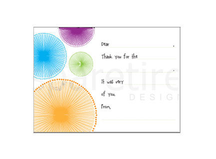 Quirky Circle Stationery Design - product images