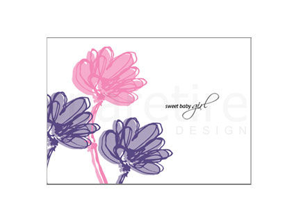 Swaying Flowers Stationery Design - product images