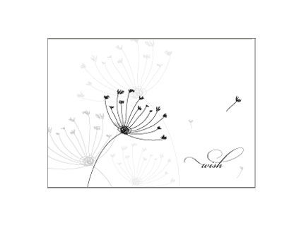 Wish Dandelion Seed Stationery Design - product images