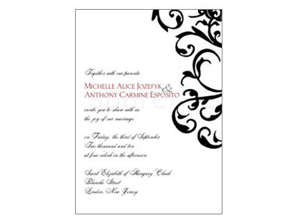 Traditional Damask and Flourish Stationery Design - product images