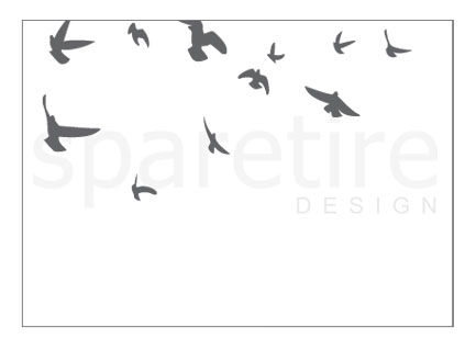 Birds Flying Stationery Design - product images