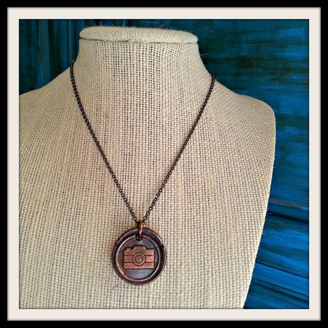 Camera,Wax,Seal,Pendant,Charm,Necklace,texas map, dfw, ft worth, arlington texas, irving, paper and place, map jewelry