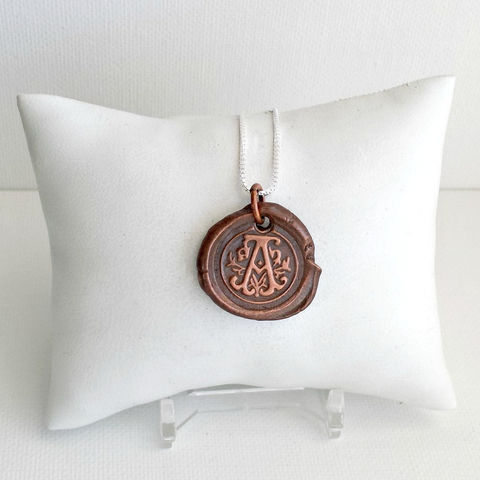 Copper,Ornate,Letter,A,Initial,Pendant,Charm,Necklace,letter pendant, copper pendant, initial charm, letter charm, letter a, monogram, personalized necklace, name necklace, mother necklace