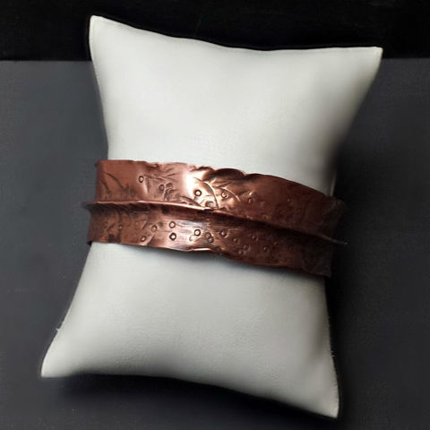 Artisan,Copper,Folded,Cuff,Bracelet,patina, brass cuff, bangle, stacking bracelets, patina jewelry