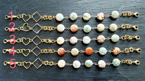 Jasper,Gemstone,Wire,Wrapped,Link,Bracelet,with,Heart,and,Diamond,Shaped,Charms,handmade jewelry dallas handmade jewelry websites handmade jewelry trends 2017 handmade jewelry near me handmade jewelry ideas handmade jewelry designers handmade jewelry etsy handmade jewelry blogs handmade jewelry handmade jewelry dallas tx handmade jew