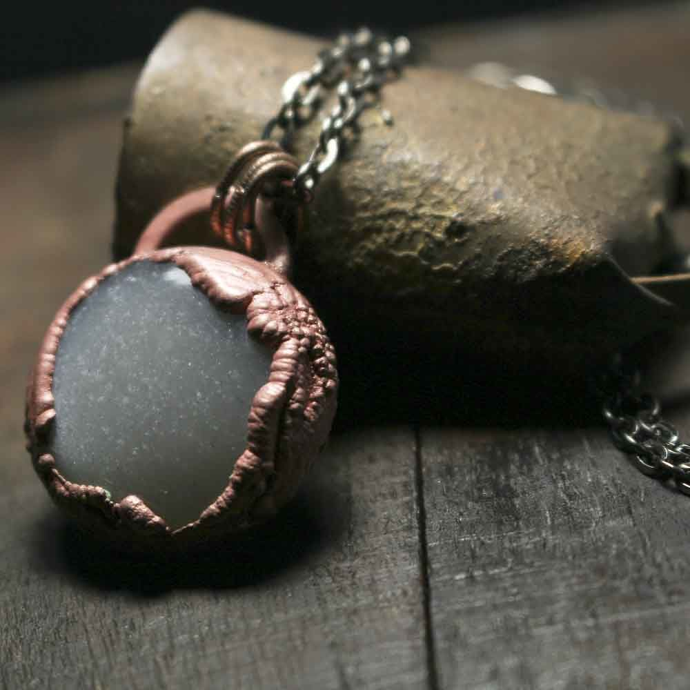 Smooth Polished Moonstone Copper Electroformed  - product images  of