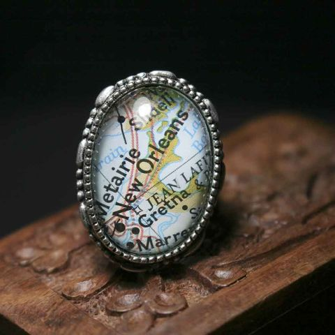 New,Orleans,Map,Ring,map ring, travel gift for her, mothers gift, gift for bride, wedding gift, destination wedding, map jewelry