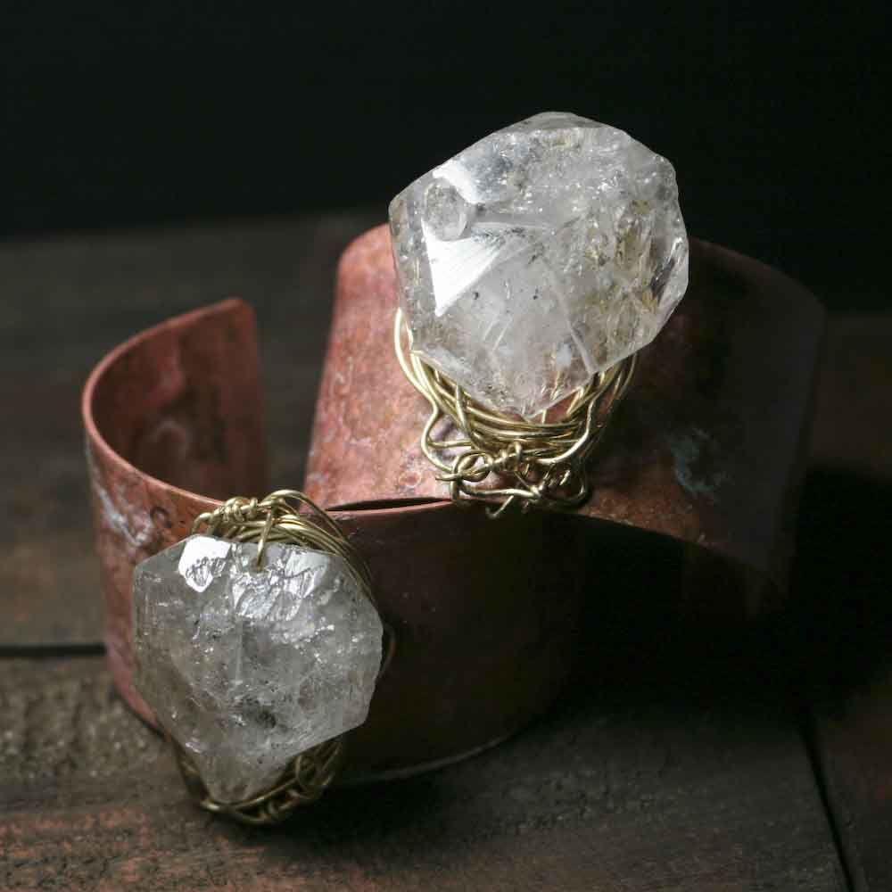 Light Wide Brass Patina Cuff Bracelet - product images  of