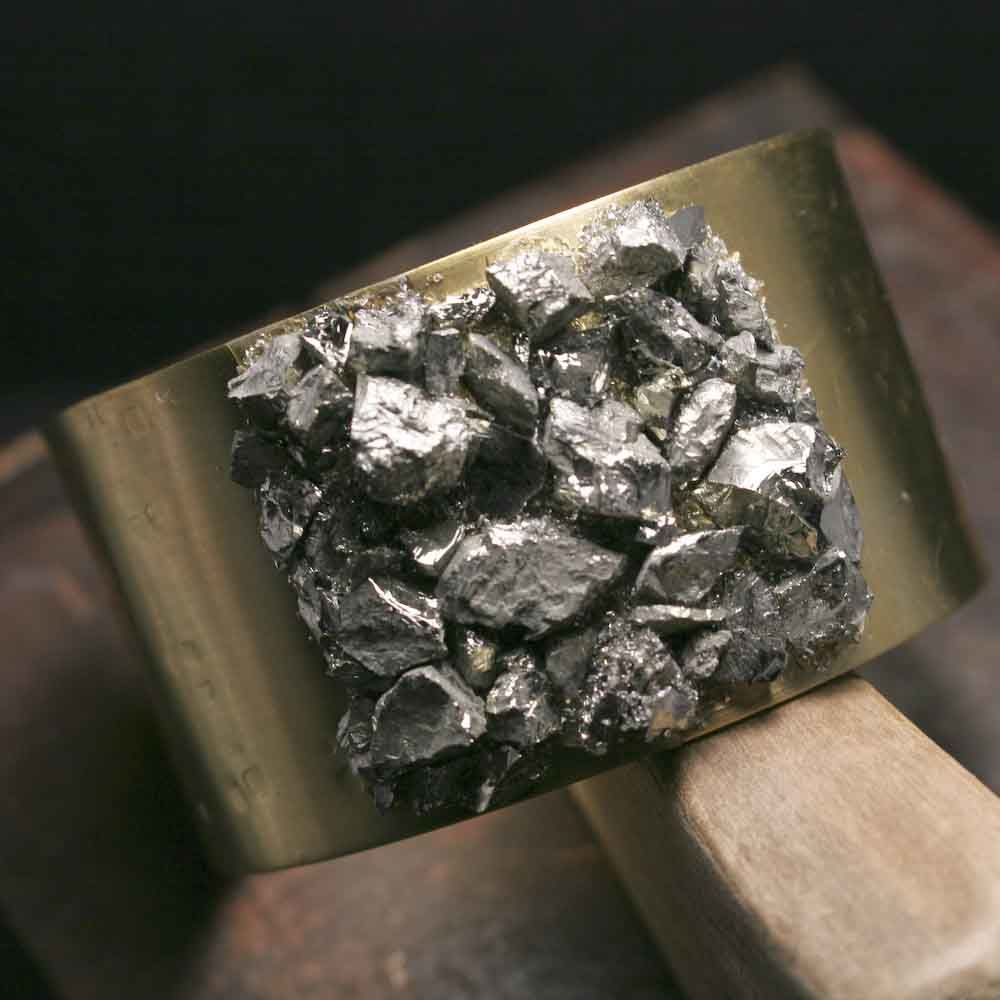 Wide Pyrite Cuff Bracelet - product images  of