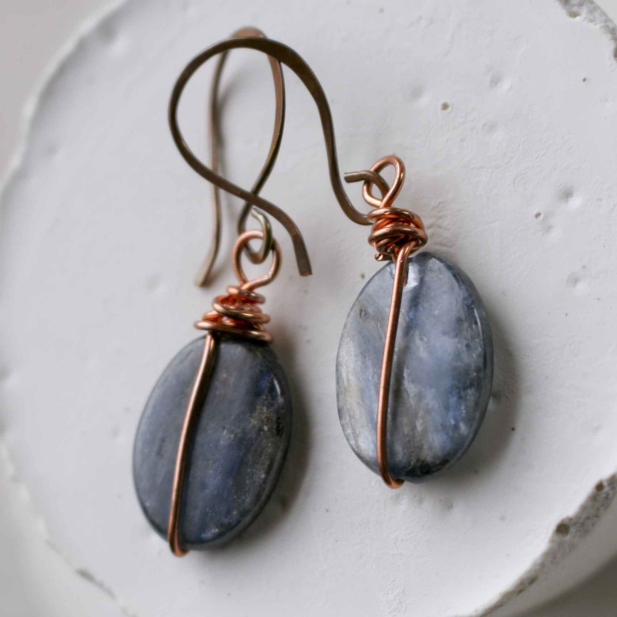 Kyanite and Copper Earrings - product images  of
