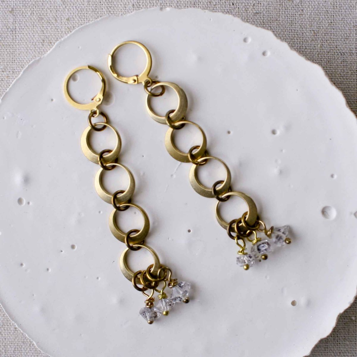 Herkimer and Links Earrings - product image