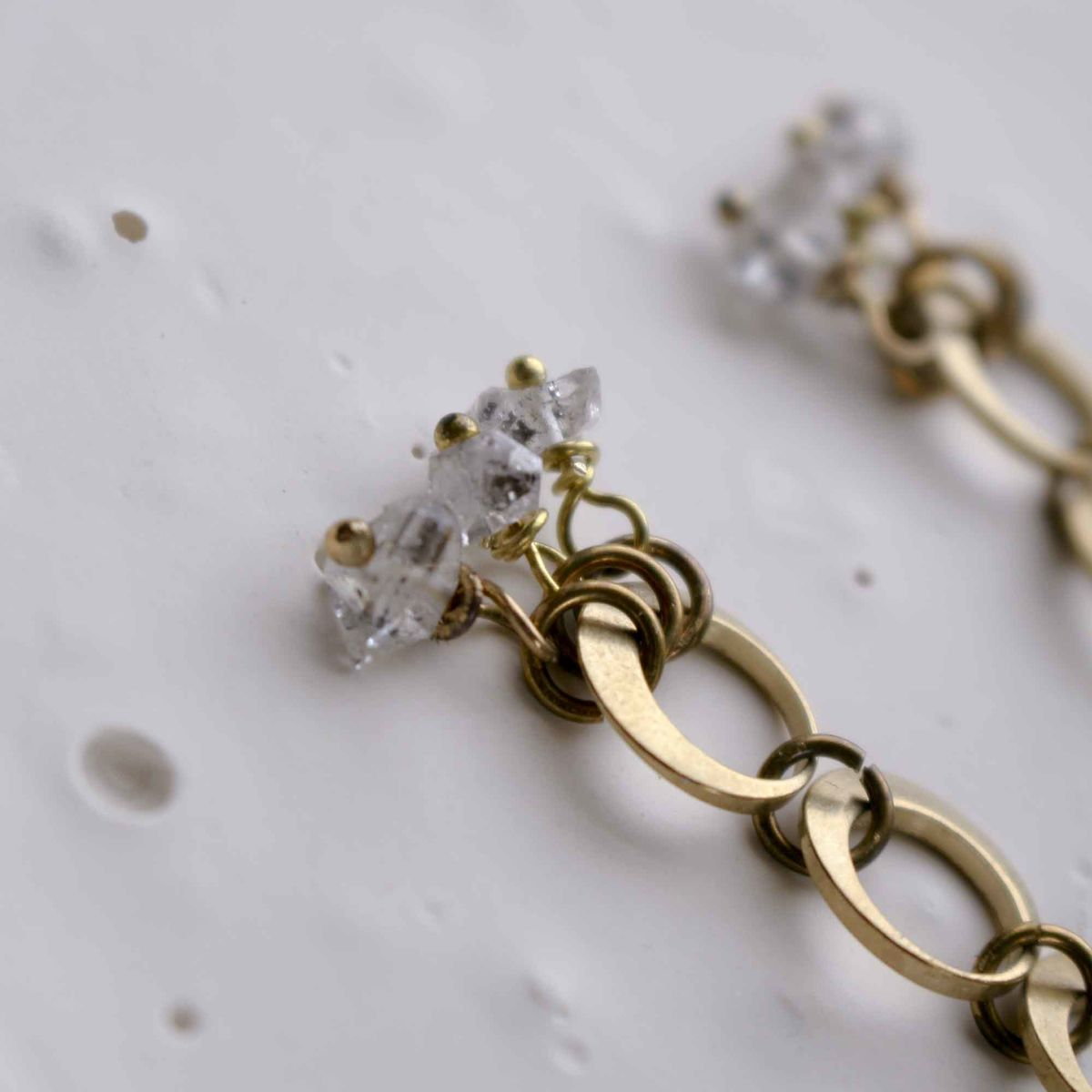 Herkimer and Links Earrings - product images  of