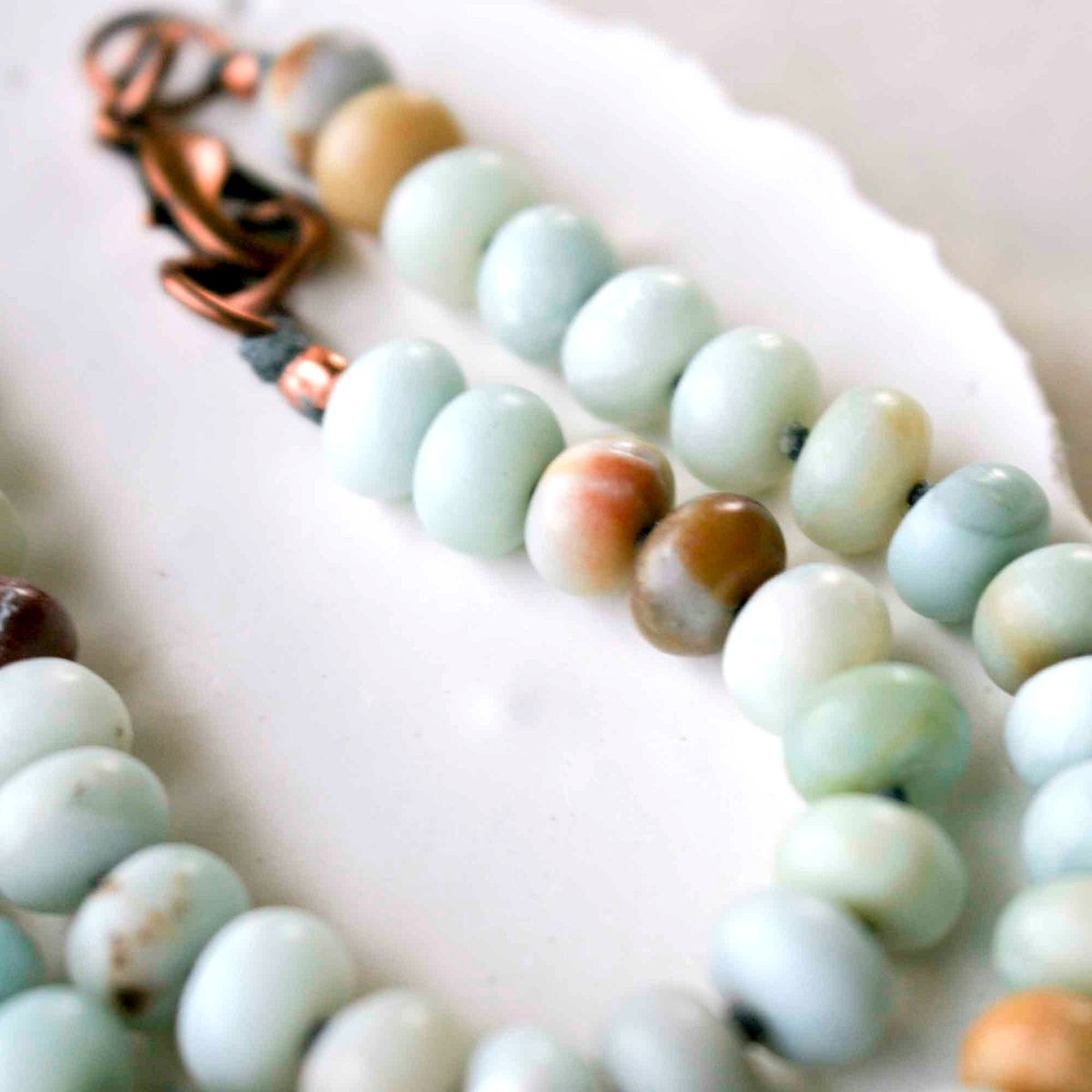 Amazonite and Crystal Quartz Necklace - product images  of