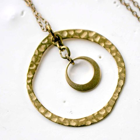 NBC,Series,-,THIS,IS,US,|,Season,4,Open,Circle,Drop,Charm,Necklace,costume designer, costume department, stylist, square, modern, minimalist, geometric necklace, layering necklace, dainty necklace, square jewelry, brass necklace, tiny gold necklace, pendant, square necklace