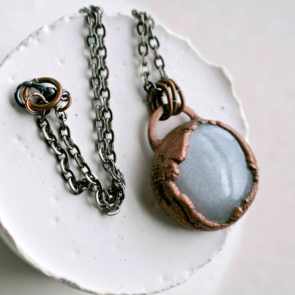 Smooth Polished Moonstone Copper Electroformed  - product image