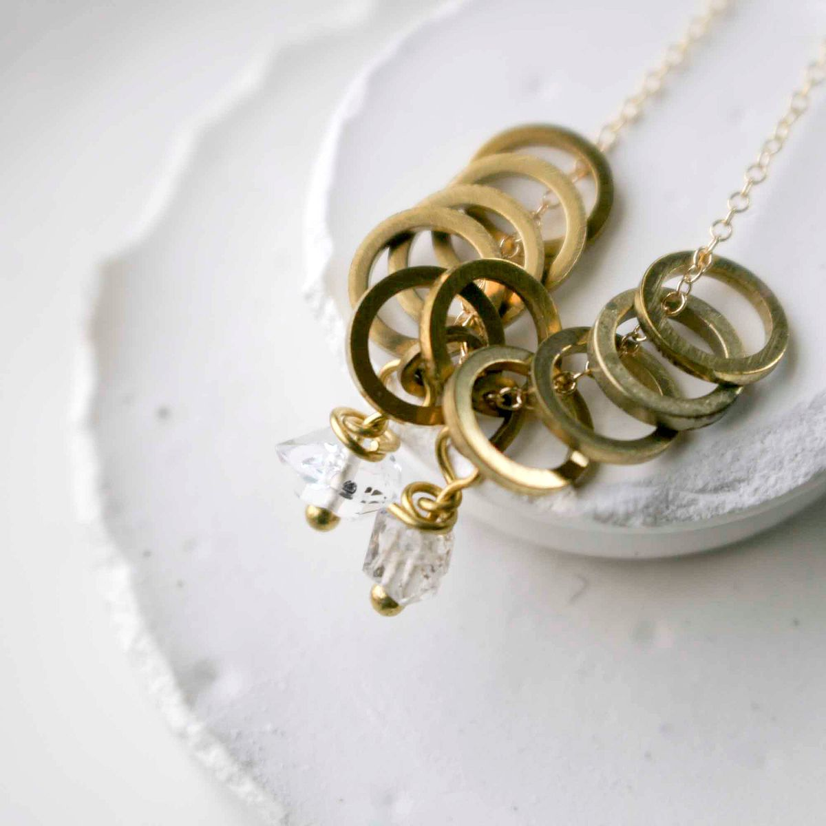Multi Wheel and Quartz Stone Necklace - product image