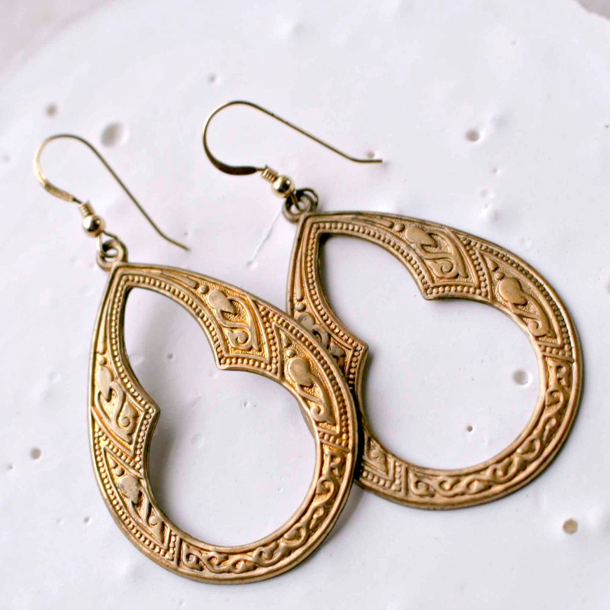 Fox Series - Empire | Season 3 | Large Brass Embossed Earrings - product images  of